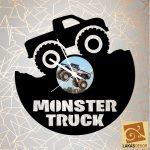 Monster Truck egyedi óra, sziluett óra