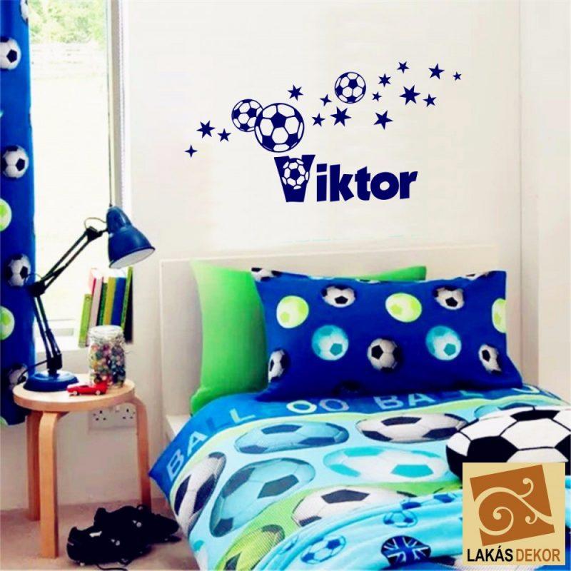 Fiús szoba 1 focis falmatrica