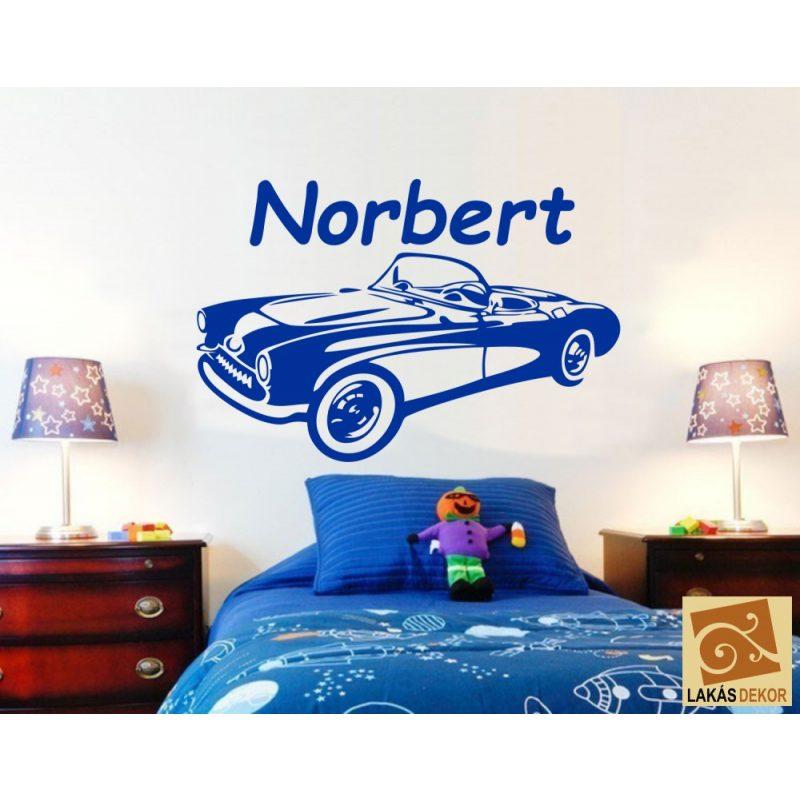 Fiús szoba 5 gyerekszoba autós falmatrica
