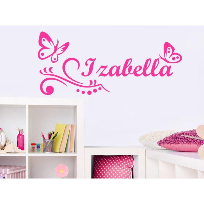Lányos szoba 4 pillangós falmatrica
