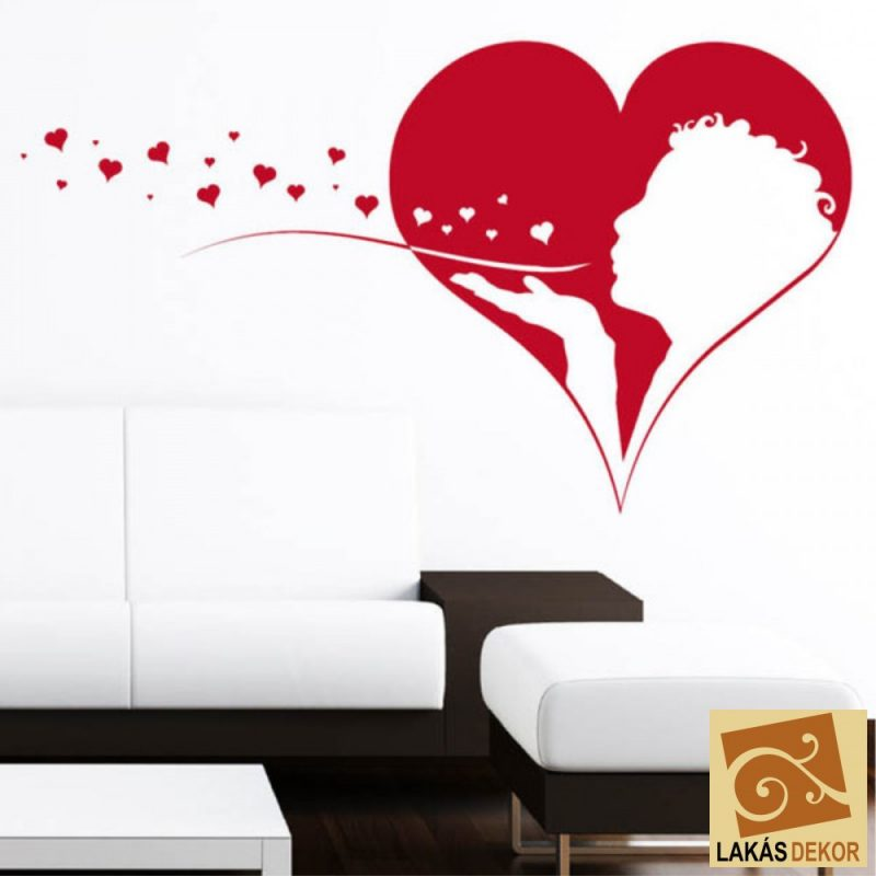 Szív  falmatrica 2