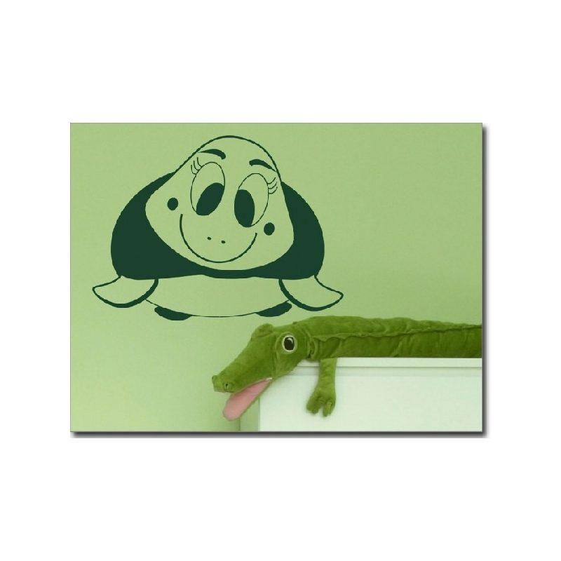 Teknős gyerekszoba falmatrica 2