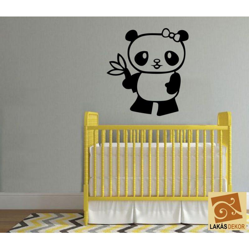 Panda maci gyerekszoba falmatrica