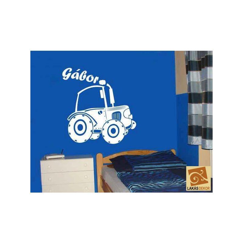 Traktor 2 gyerekszoba falmatrica