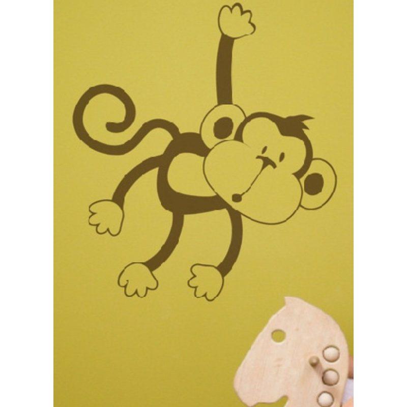 Maki majom gyerekszoba falmatrica