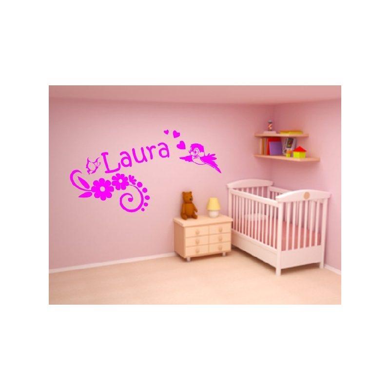 Lányos szoba 6 madárkás falmatrica