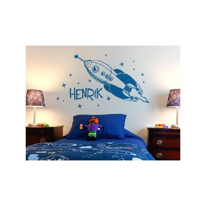 Fiús szoba 6 űrhajós falmatrica