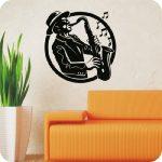 Jazz szaxafonos falmatrica