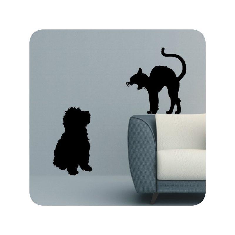 Kutya és Macska falmatrica