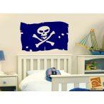 Kalóz zászló gyerekszoba falmatrica