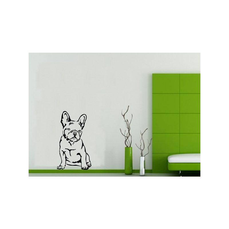 Francia Bulldog üllő falmatrica 3