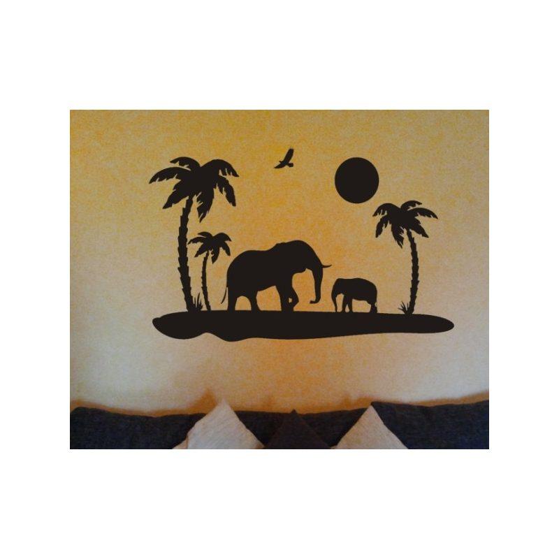 Elefántok falmatrica