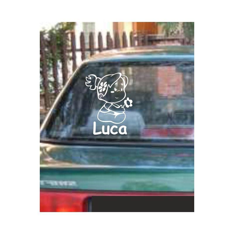Autómatrica, Baba a kocsiban, Kislány virággal
