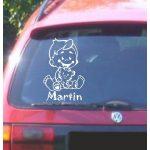 Autómatrica, Baba a kocsiban, Fiú cicával