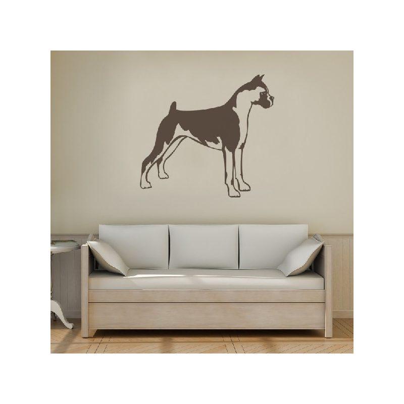 Boxer kutya álló falmatrica