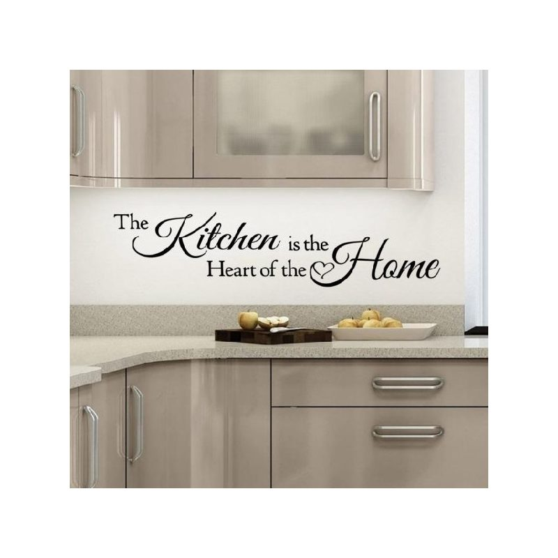 The kitchen is the...Idézet falmatrica