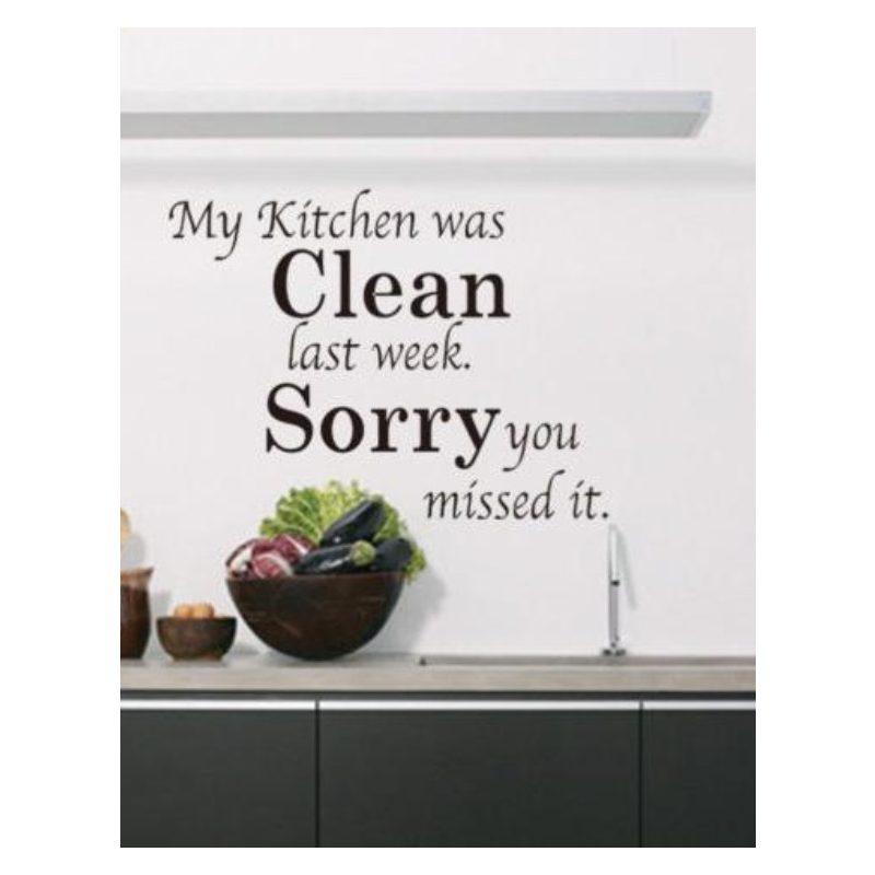 My kitchen was...Idézet falmatrica