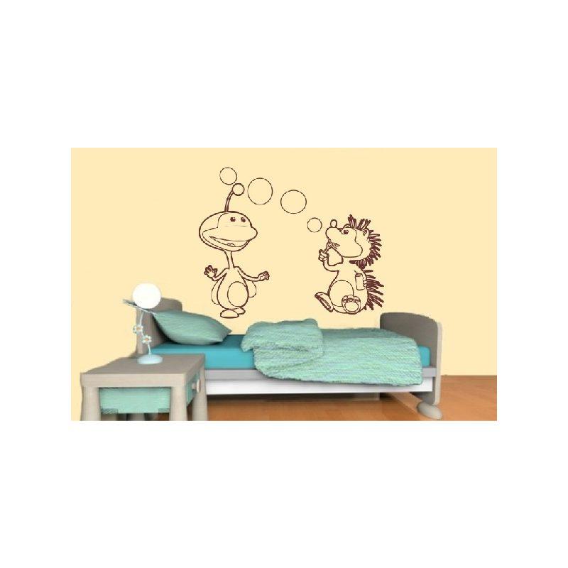 Süni és barátja gyerekszoba falmatrica