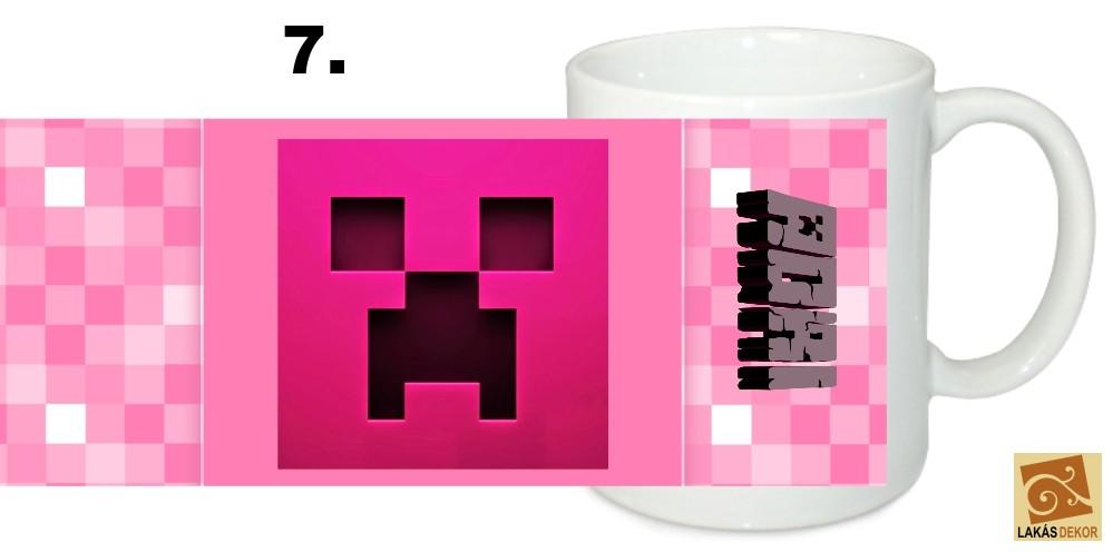 6c237228e35f Egyedi fényképes bögre fehér Minecraft 1, fényképes ajándékok, pólók ...