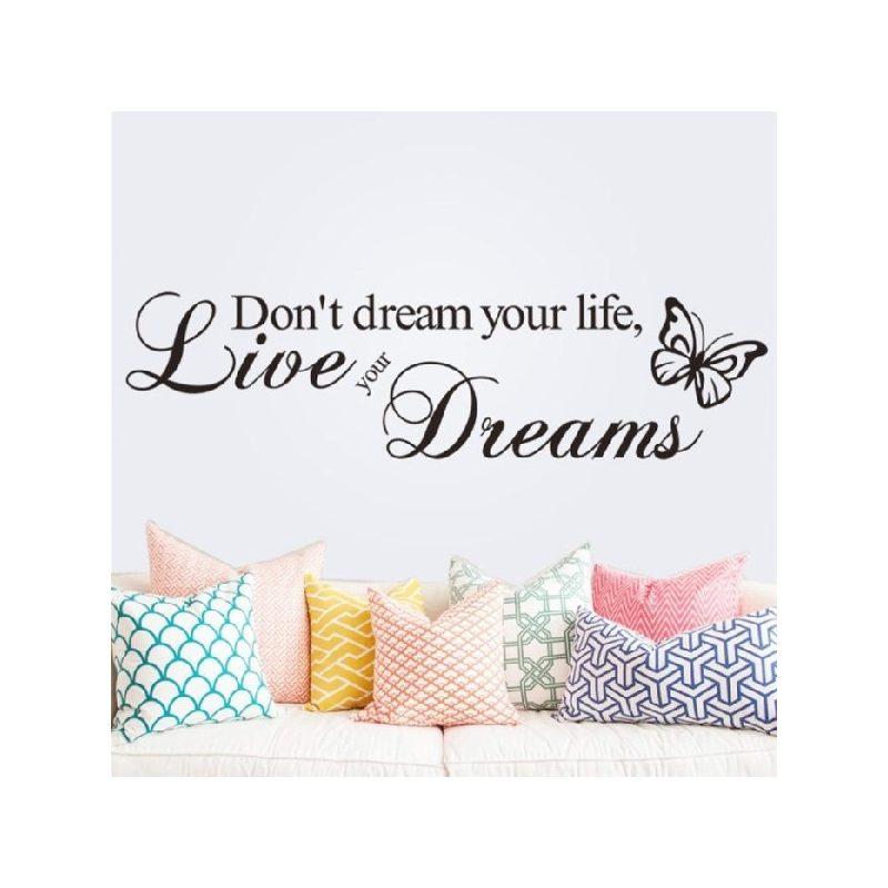 Don't dream your...Idézet falmatrica