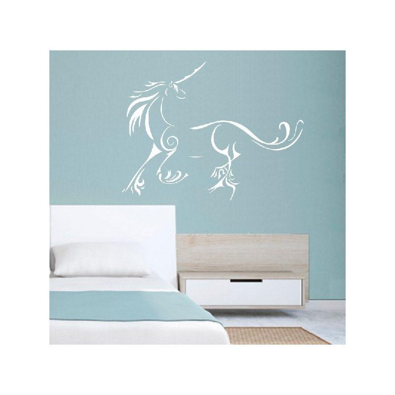Egyszarvú ló 1 Unicornis, lovas falmatrica