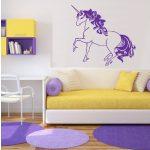 Egyszarvú ló 3 Unicornis, lovas falmatrica