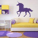 Egyszarvú ló 4 Unicornis, lovas falmatrica