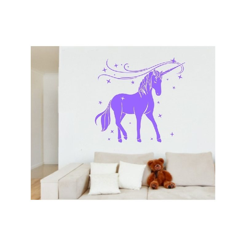 Egyszarvú ló 5 Unicornis, lovas falmatrica