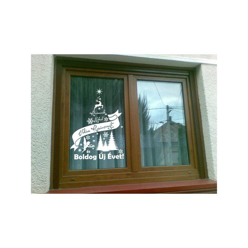 Karácsonyi ablakmatrica 1
