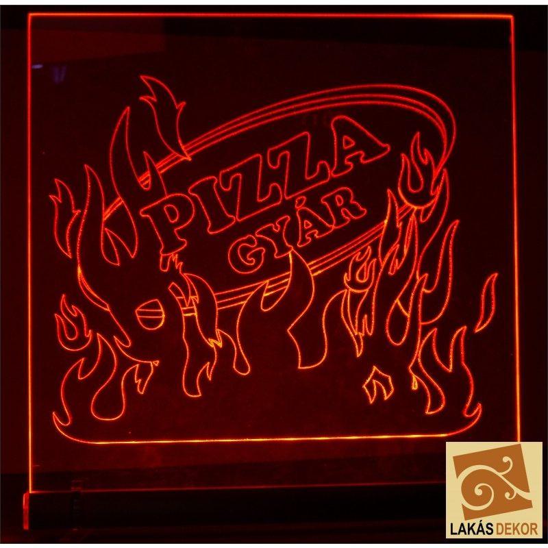 Pizza LED tábla egyedi