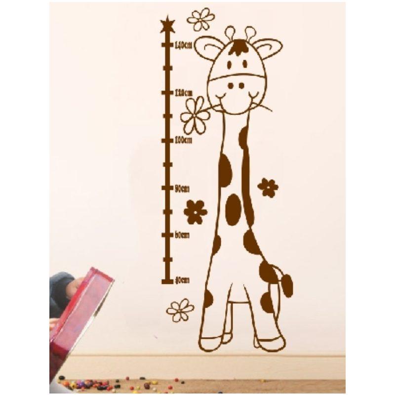 Magasságmérő Zsiráfka gyerekszoba falmatrica