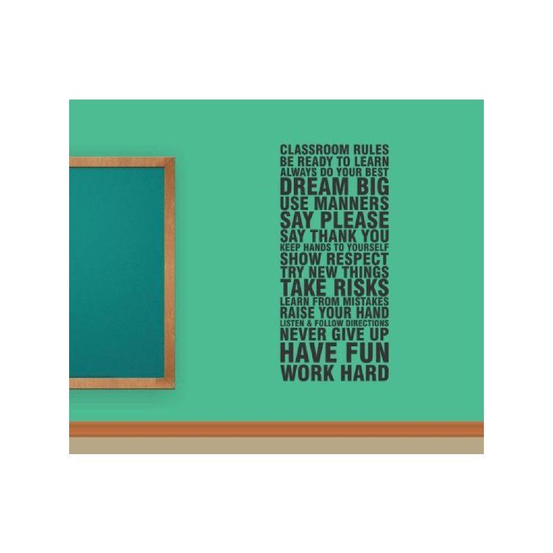 Classroom rules...Idézet falmatrica