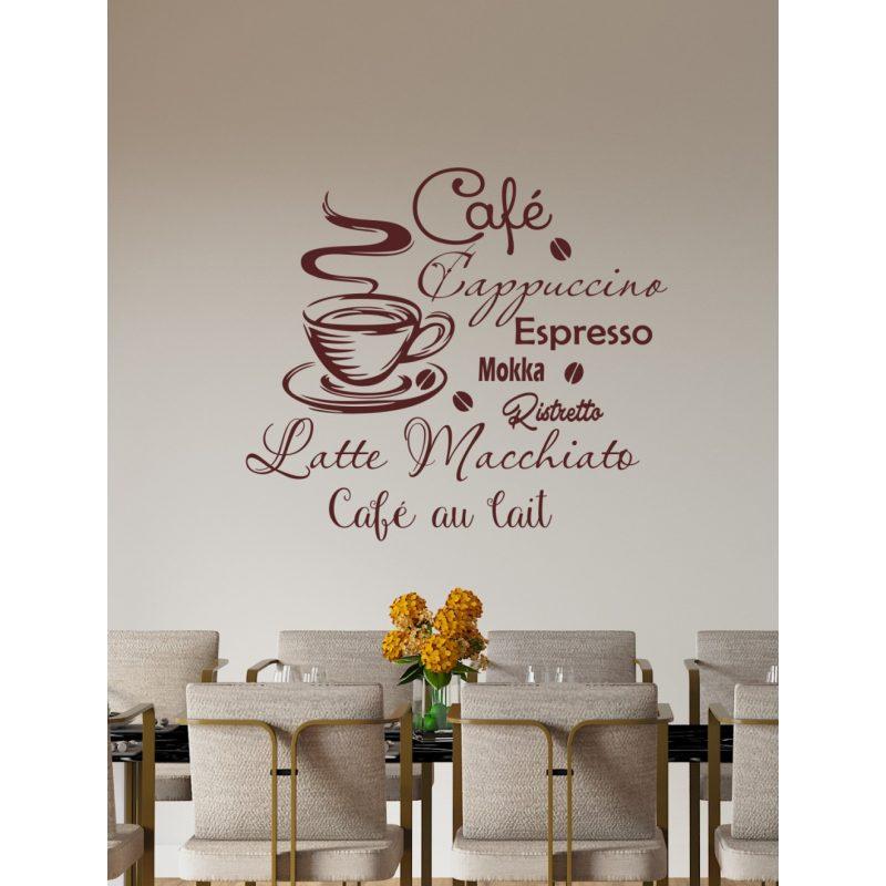 Falikép kávés falmatrica 2