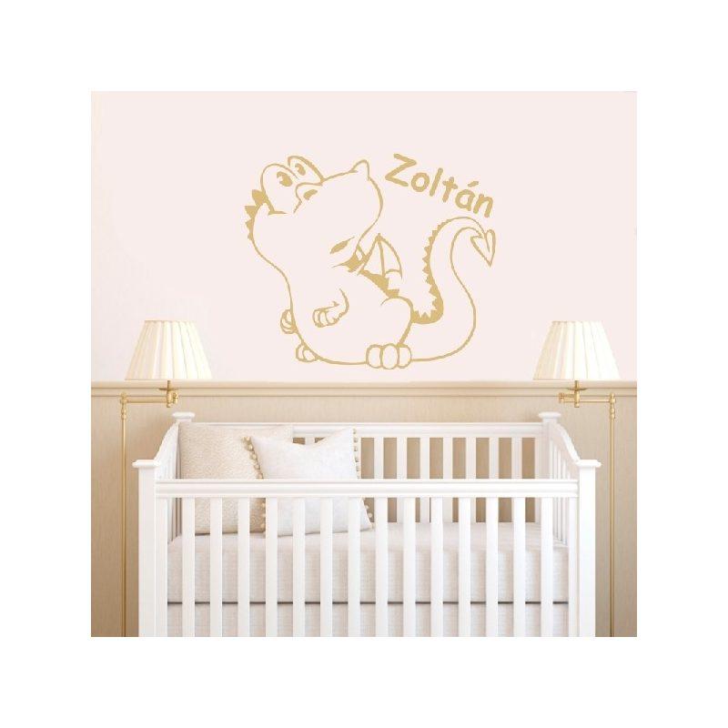 Sárkány bébi gyerekszoba falmatrica 3