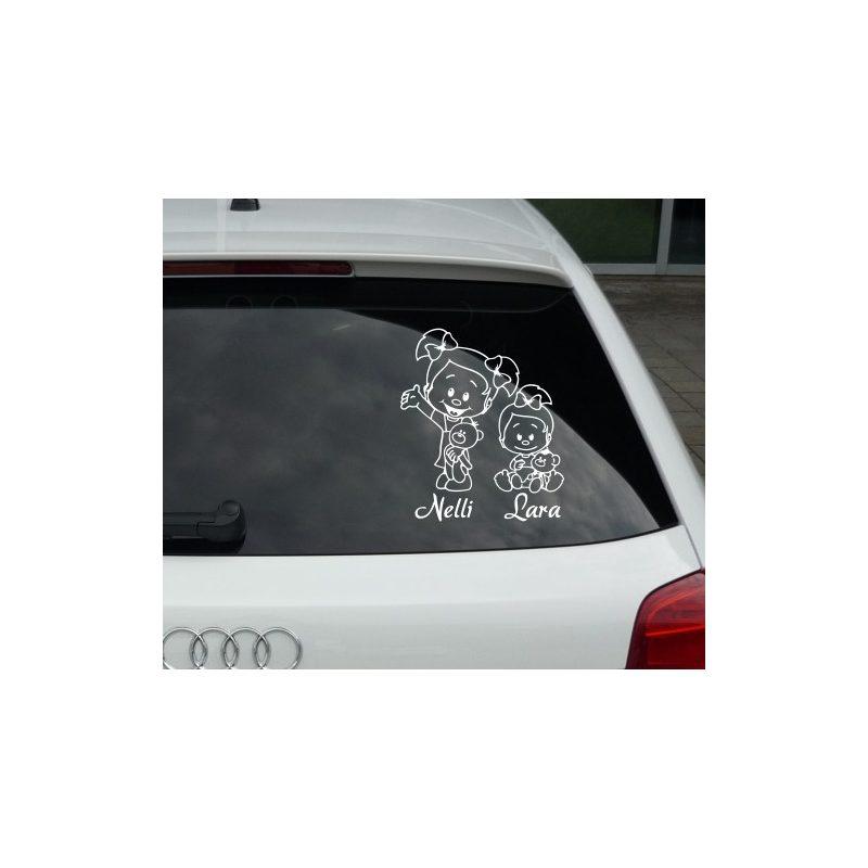 Autómatrica, Baba a kocsiban, Kislány és Kislányka-1