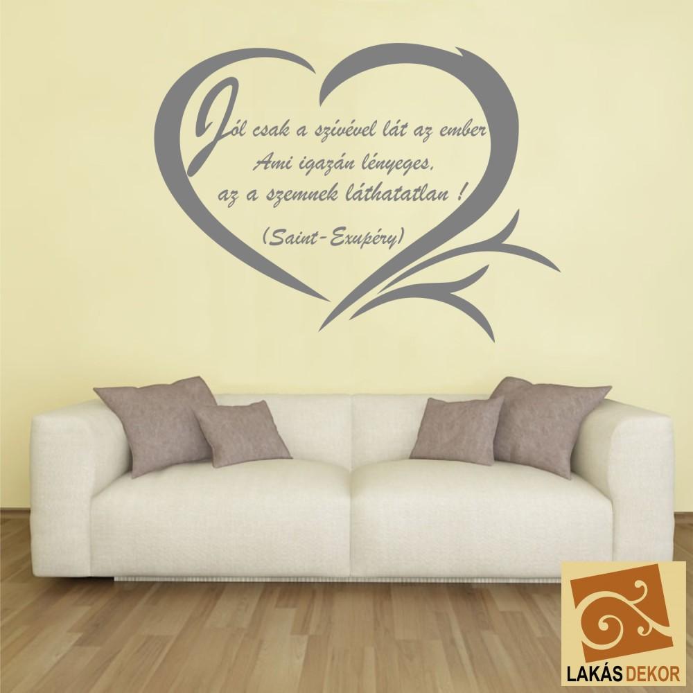 családfa idézetek Jól csak a szívével lát, Idézet falmatrica, faltetoválás, eg