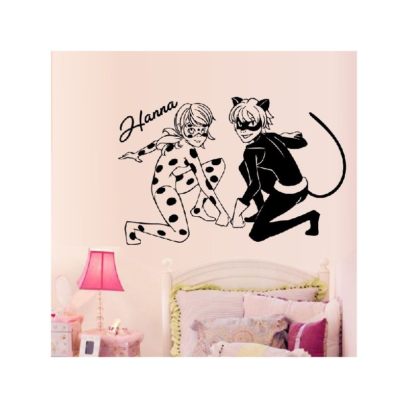 Katicalány és Macskafiú gyerekszoba falmatrica