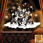 Karácsonyi ablakmatrica 7, szarvasok
