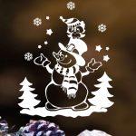 Karácsonyi ablakmatrica 5, hóember