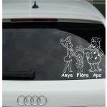 Anya, Kislány, Apa Autómatrica, Baba a kocsiban