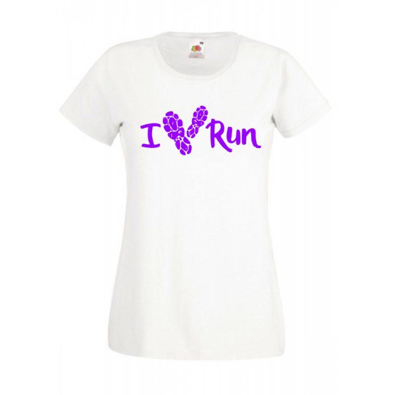 I Love Run futás női póló