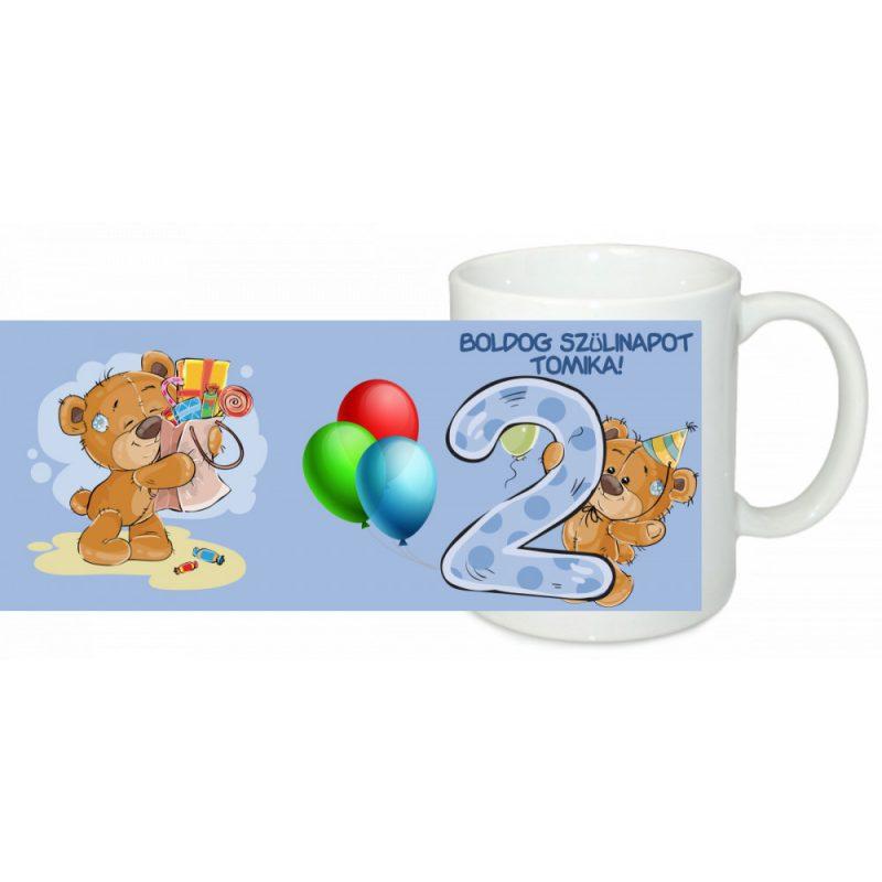 2b292086e3 Boldog szülinapot 2 éves fiúnak Egyedi bögre