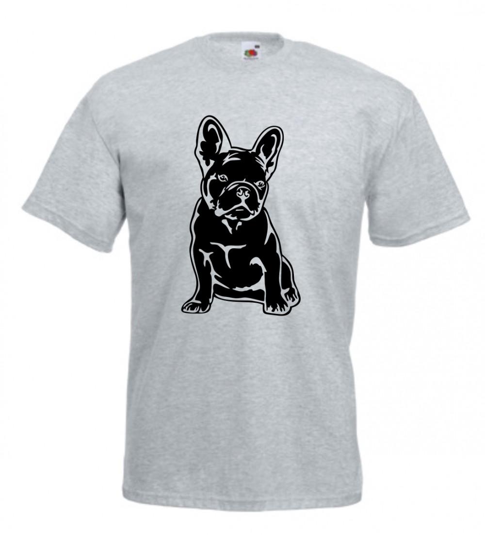 Francia Bulldog férfi Póló