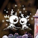 Karácsonyi ablakmatrica 6, szarvaskák