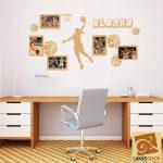 Kosárlabdás lány fényképkeretes falmatrica