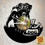 Angol Bulldog Sziluett óra