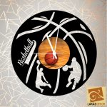 Kosárlabda 2 egyedi óra, sziluett óra