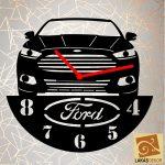 3. Autós egyedi óra, sziluett óra