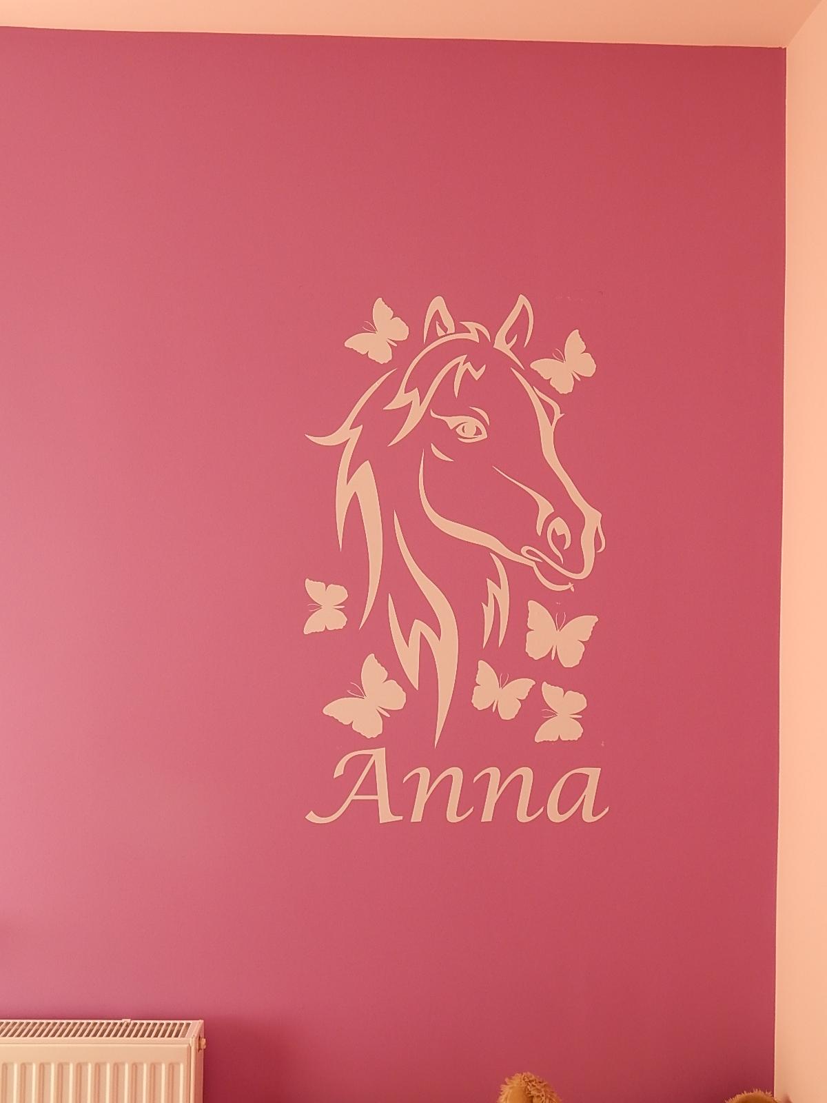 Lófej falmatrica Anna felirattal
