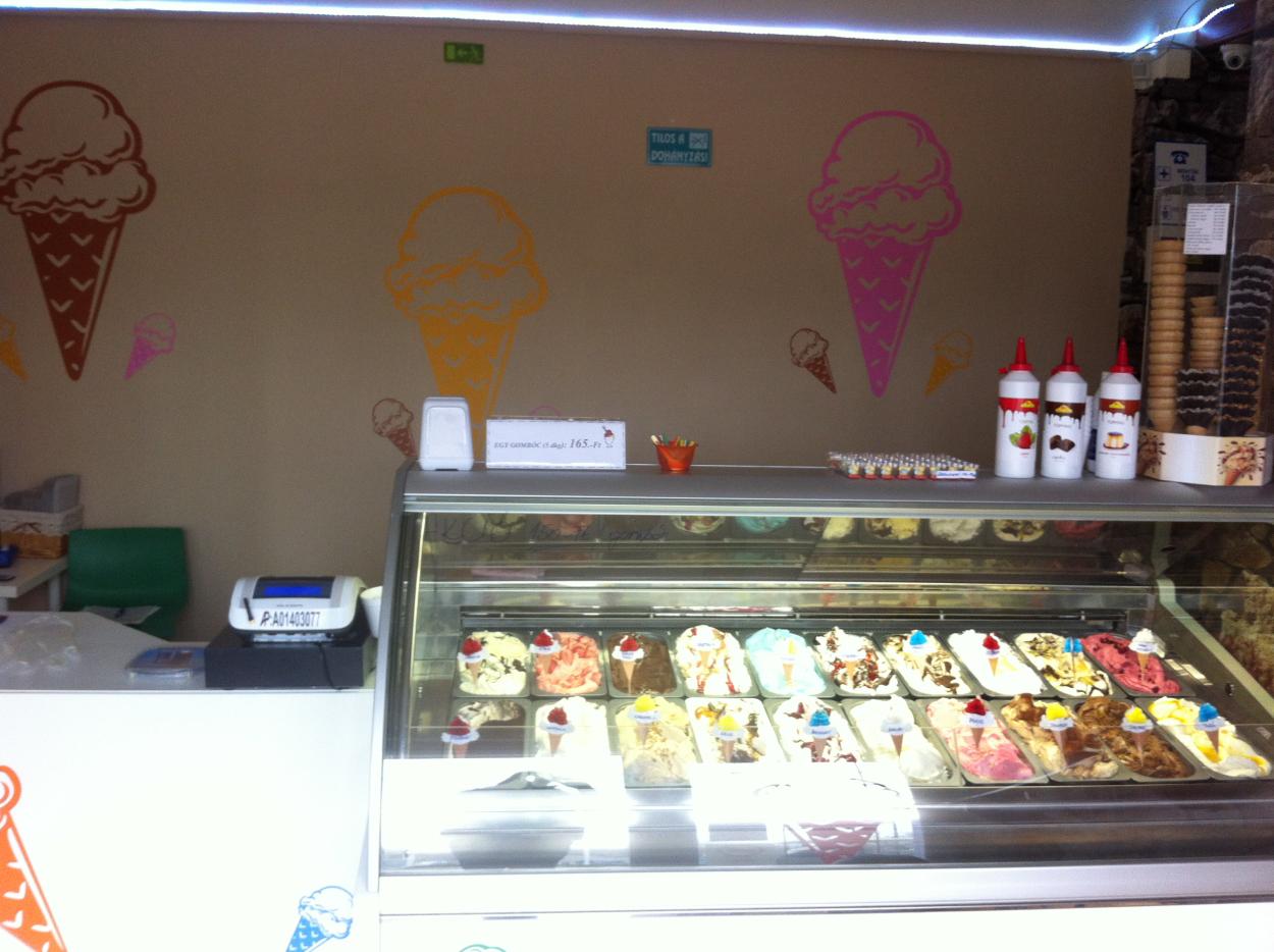 Fagylalt, fagyizó dekoráció